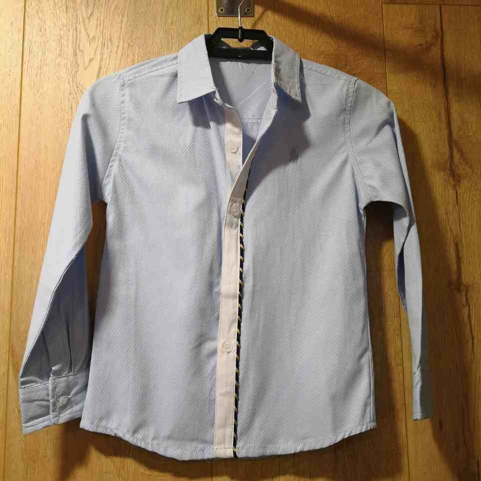 Camisa Niño Algodón Azul Cielo
