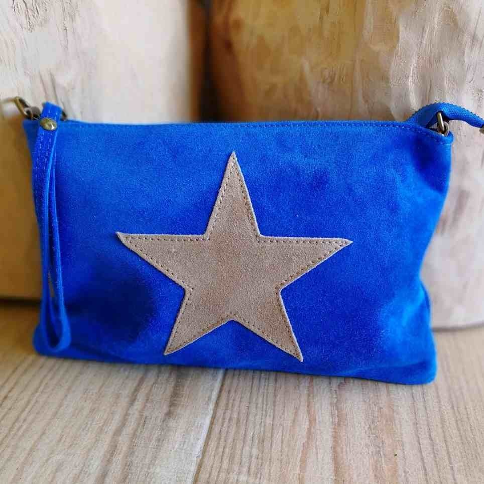 Bolso Ante GLAM Azul Klein / Beige