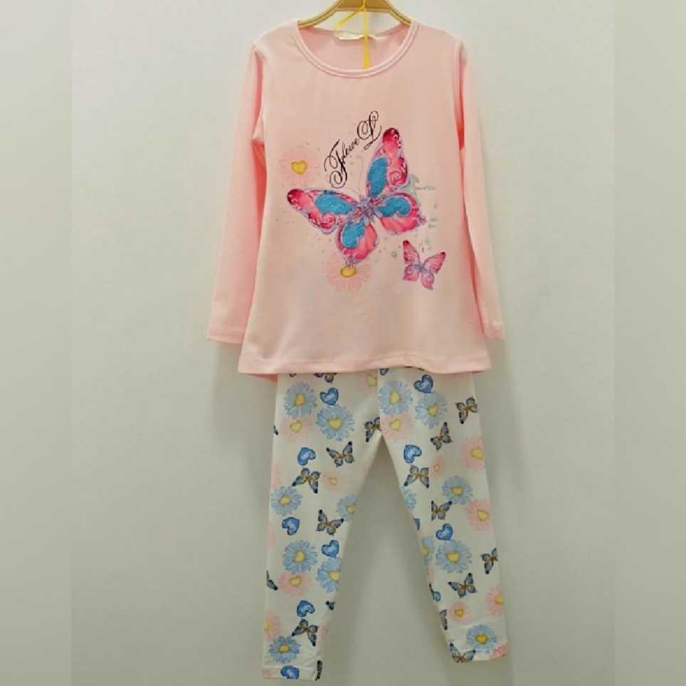Conjunto Niña Camiseta y Legging Rosa