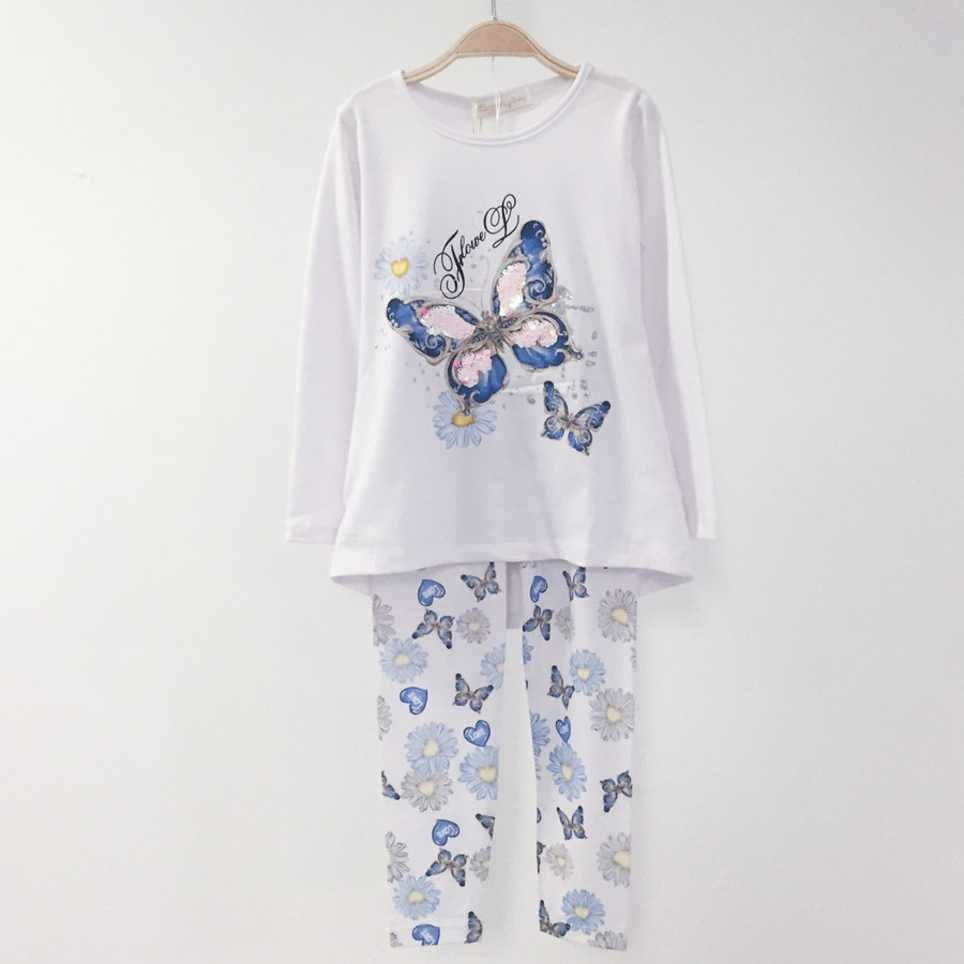 Conjunto Niña Camiseta y Legging Blanco