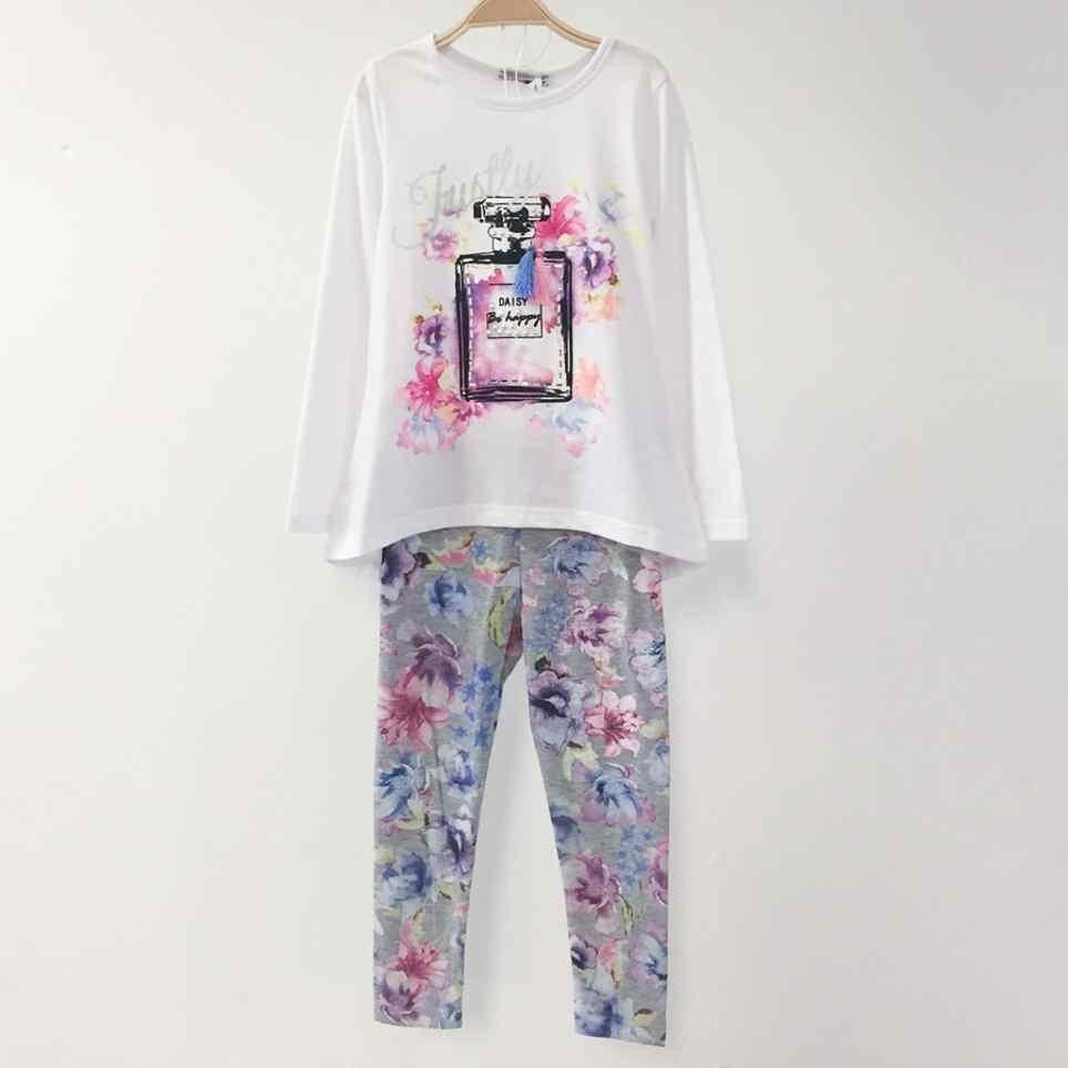 Conjunto Niña Camiseta y Legging PERFUME Blanco