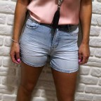 Short Denim Efecto Lavado