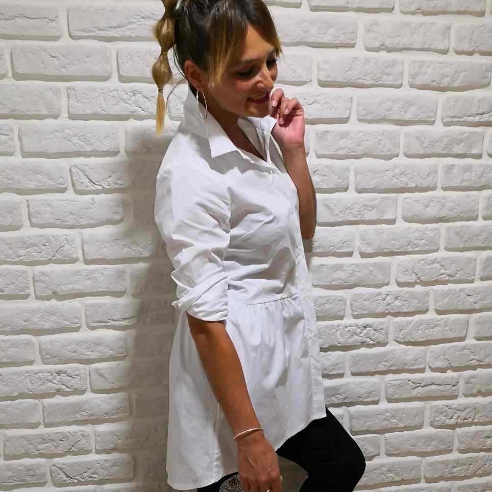 Comprar Camisa Blanca Larga Asimétrica
