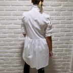 Camisa Blanca Larga Asimétrica   Tiendas Low Cost España