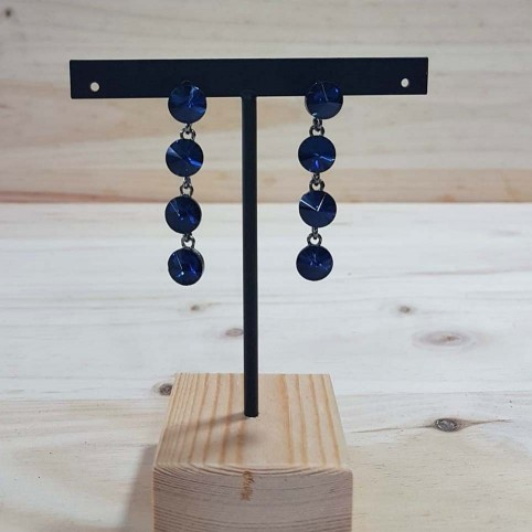 Pendientes Largos Cristales Azulón