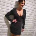 Vestido Glitter DIVA Negro
