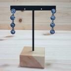 Pendientes Largos Cristales Azul Cielo