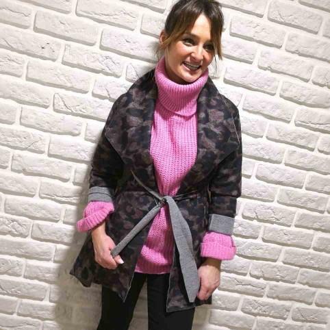 Abrigo Ligero Print TURKANA Rosa