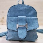 Mochila Lengüeta Azul Cian