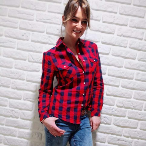 Camisa Cuadros Rojo / Azul