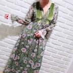 Vestido Floral BEATRICE Khaki