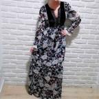 Vestido Floral BEATRICE Negro