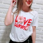Camiseta Fantasía LOVE SUMMER Blanco