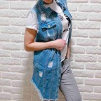Chaleco Ripped Denim Azul