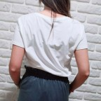 Camiseta Rosetón Tull Blanco