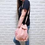 Bolso Saco Doble Faz Rosa