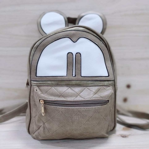 Mochila Costuras Mouse Taupe