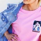 Camiseta Mensaje MONSIEUR Rosa