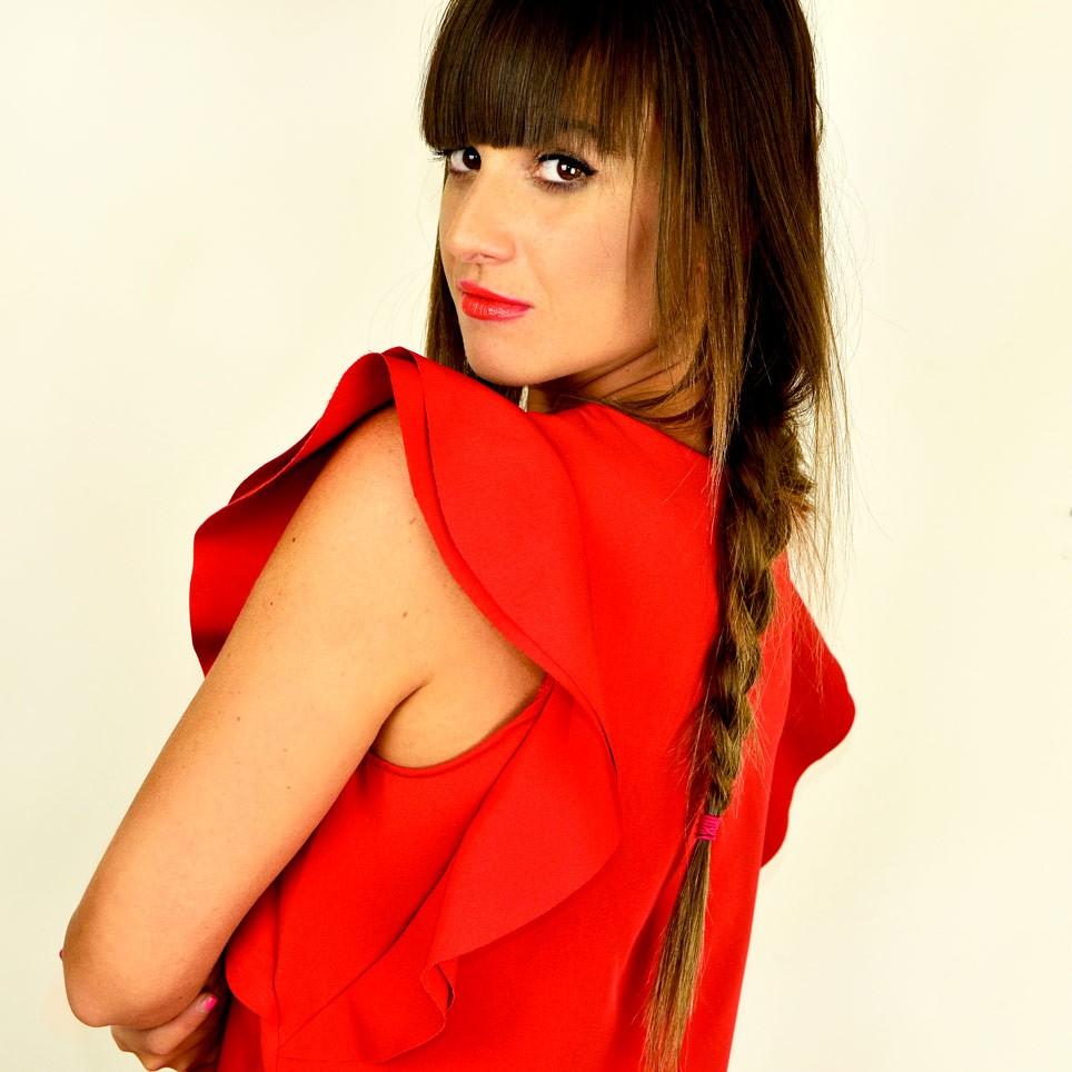 Blusa Volantes CONNIE Rojo