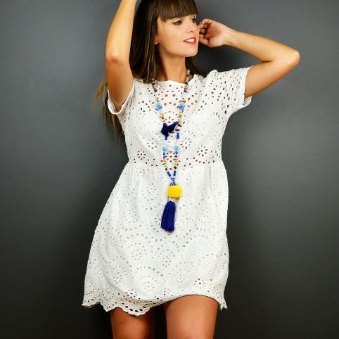 Vestido Ibicenco HANNA Blanco