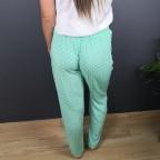 Pantalón Fluido Topitos Aguamarina