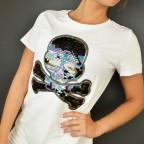 Camiseta Calavera SADIE Blanco