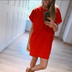 Vestido Algodón Oversize Rojo