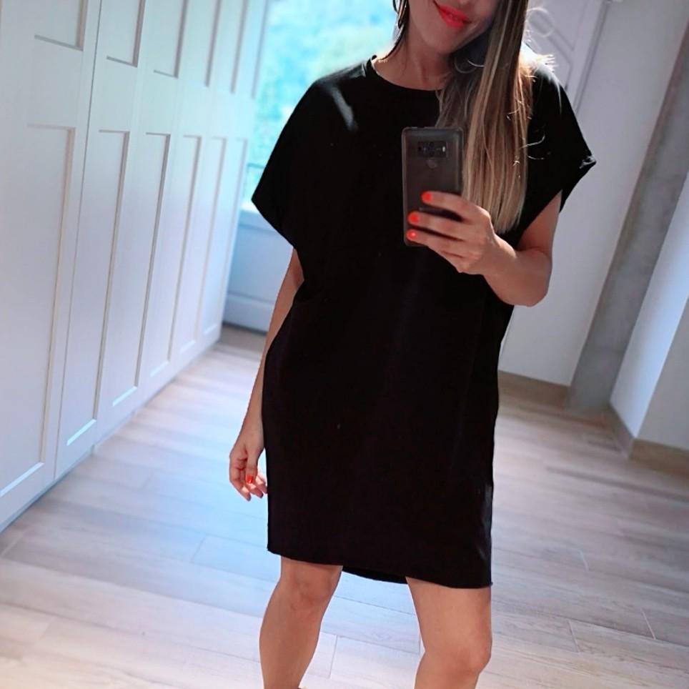 Vestido Algodón Oversize Negro