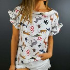 Blusa Estampada JUNGLE Blanco