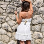 Vestido Bordado IBAI Blanco
