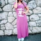 Vestido Largo GIRL HEART Ciruela