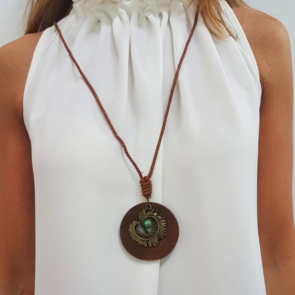 Collar Colgante Pluma