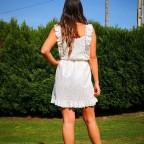 Vestido Guipur Volantes Blanco