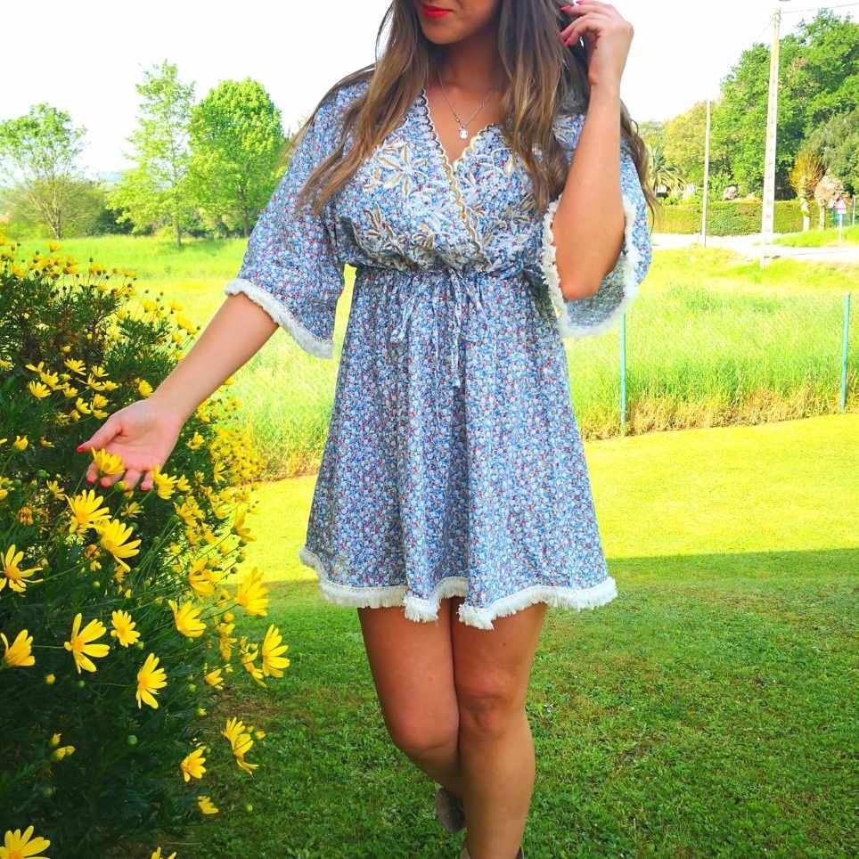 Vestido Floral SOPHIE Azul