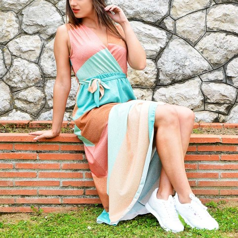 Vestido Lurex Franjas