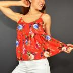 Top Floral MELI Rojo