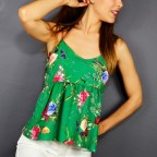 Top Floral MELI Verde