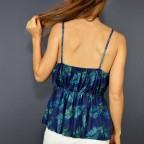 Top Floral LIDA Azul