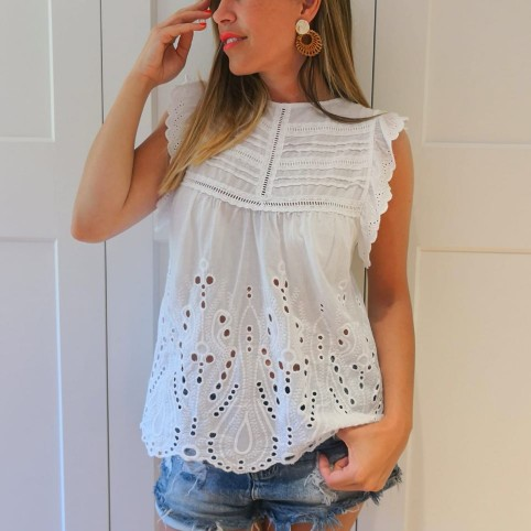 Blusa Bordados GINEBRA Blanco