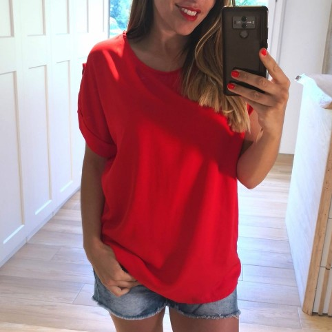 Blusa Fluida FAYE Rojo