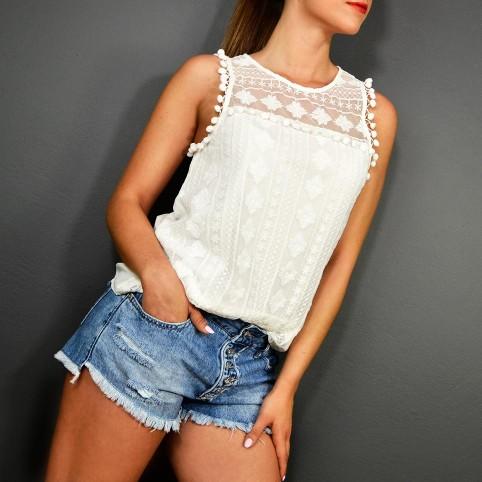 Blusa Bordados HAIDEE Blanco