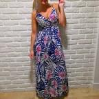Vestido Estampado ALICIA Azul Klein