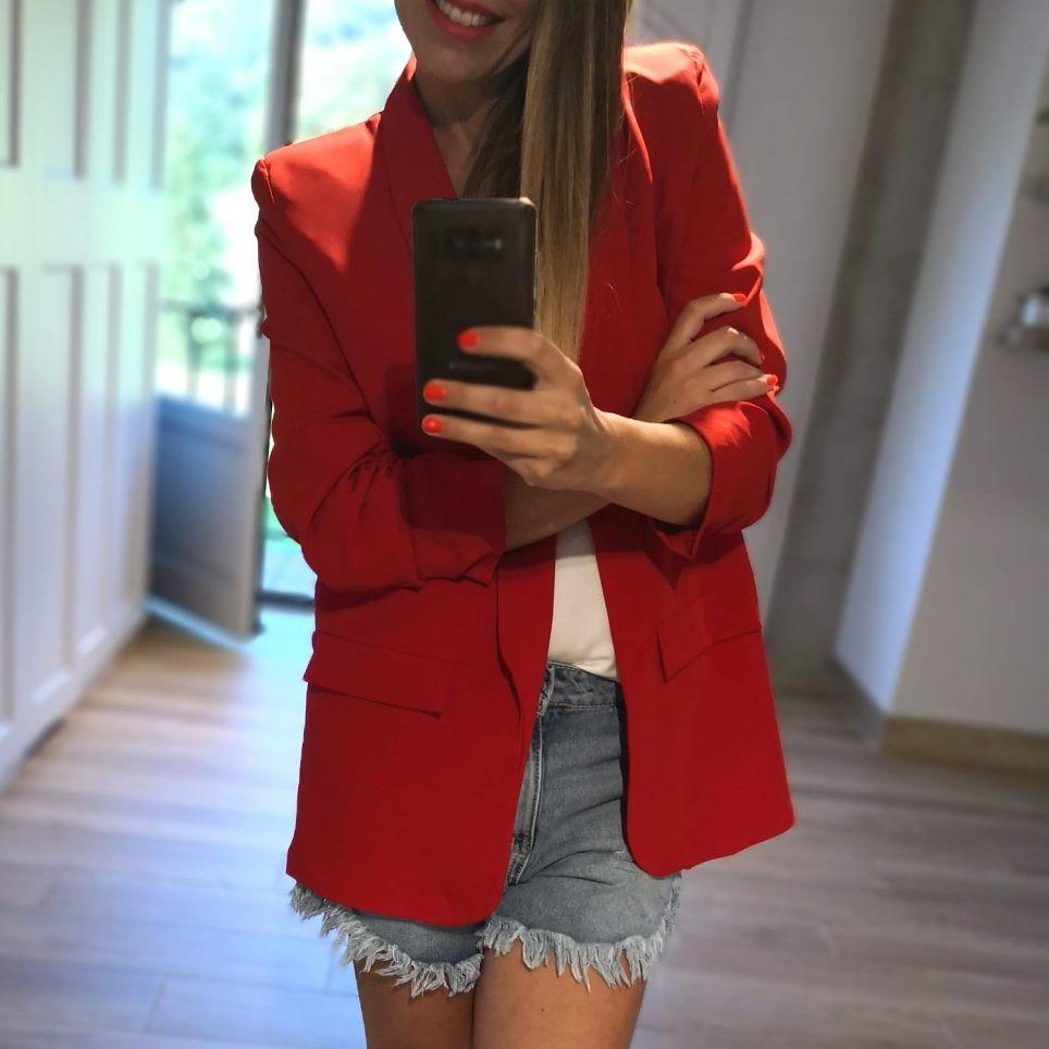 Blazer Oversize Bianca Rojo