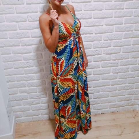 Vestido Estampado MAKADAMIA Marino