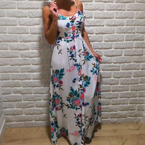 Vestido Estampado DALIA Blanco