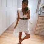 Vestido Oversize Encaje Blanco