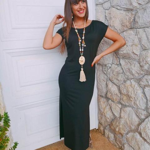 Vestido Largo Básico Negro