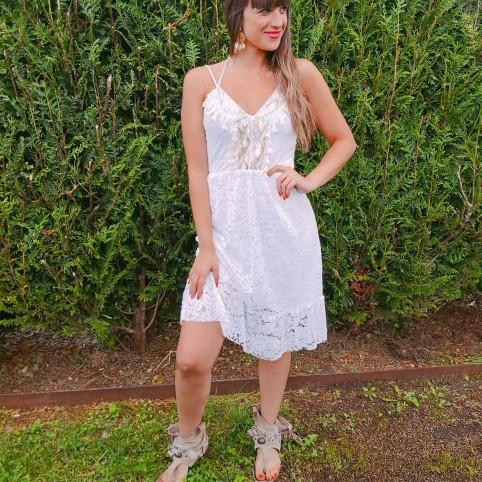 Vestido Encaje MALTA Blanco