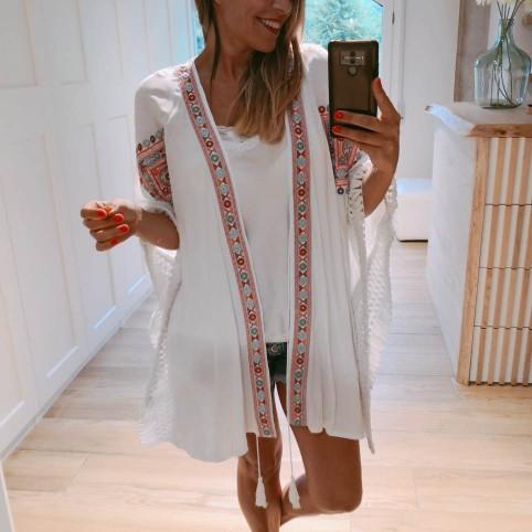 Kimono Étnico ANANDA Blanco