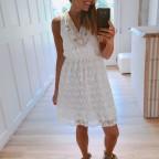Vestido Encaje y Estrellas Blanco